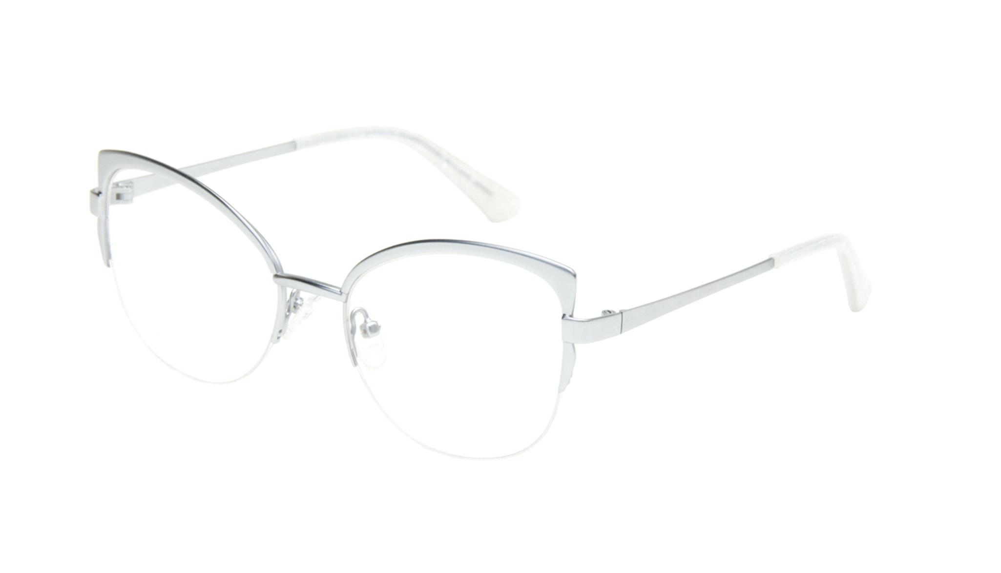 Affordable Fashion Glasses Cat Eye Eyeglasses Women Adore Silver Marble Tilt