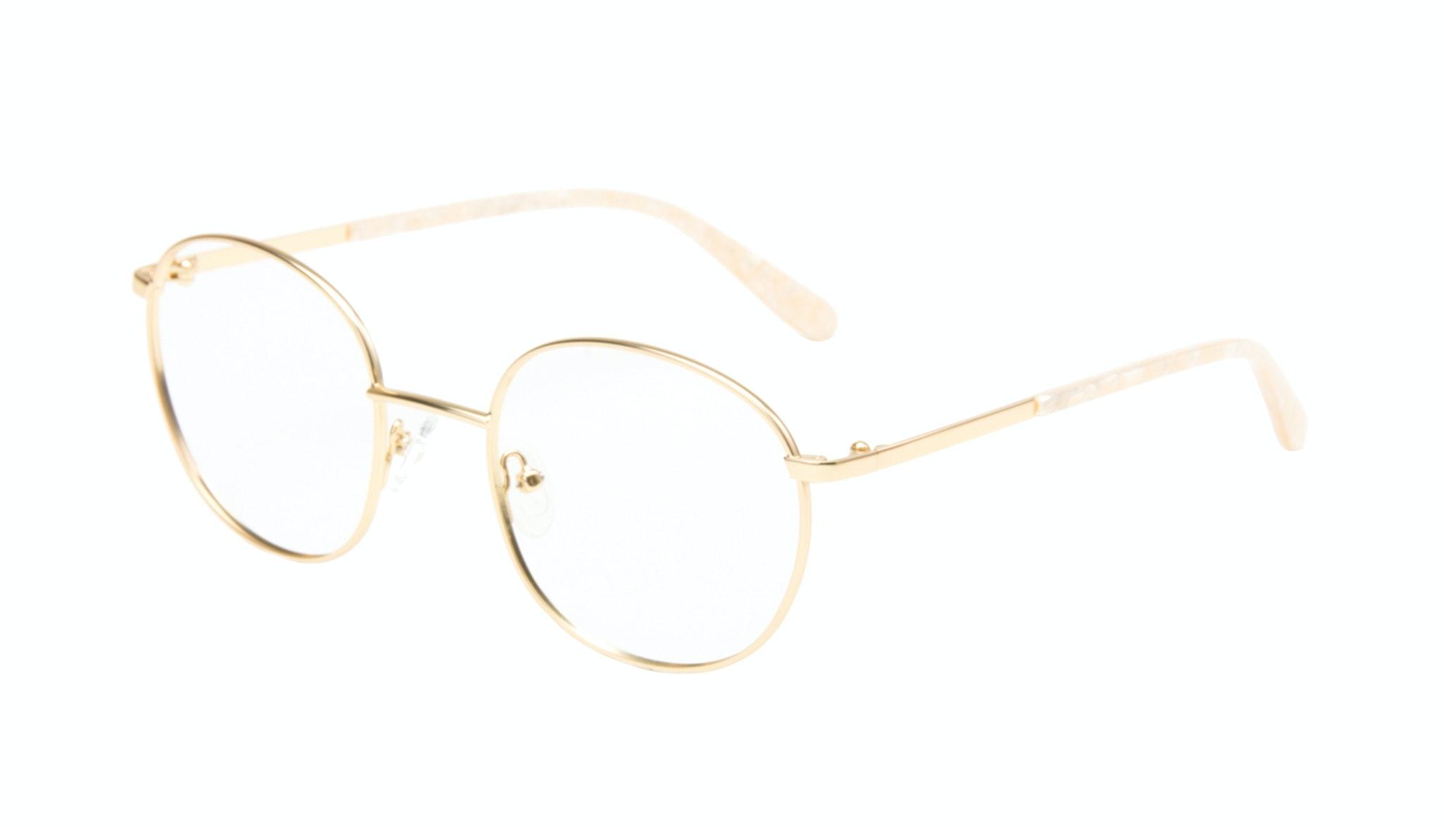 Affordable Fashion Glasses Round Eyeglasses Women Joy Gold Marble Tilt
