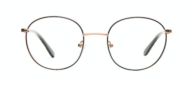 Affordable Fashion Glasses Round Eyeglasses Women Joy Black Copper Front