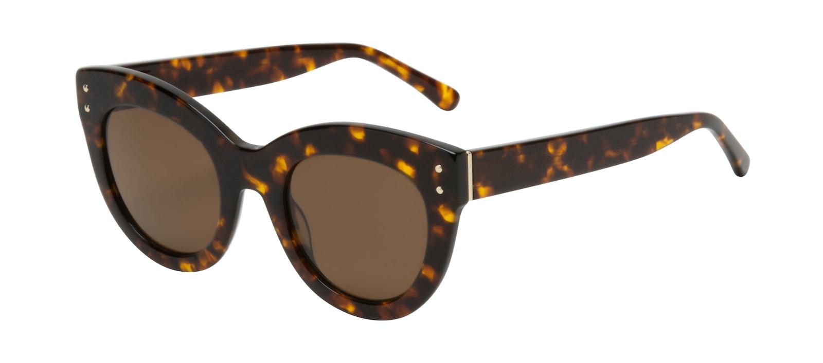 Lunettes tendance Oeil de chat Lunettes de soleil Femmes Groove Tortoise Incliné