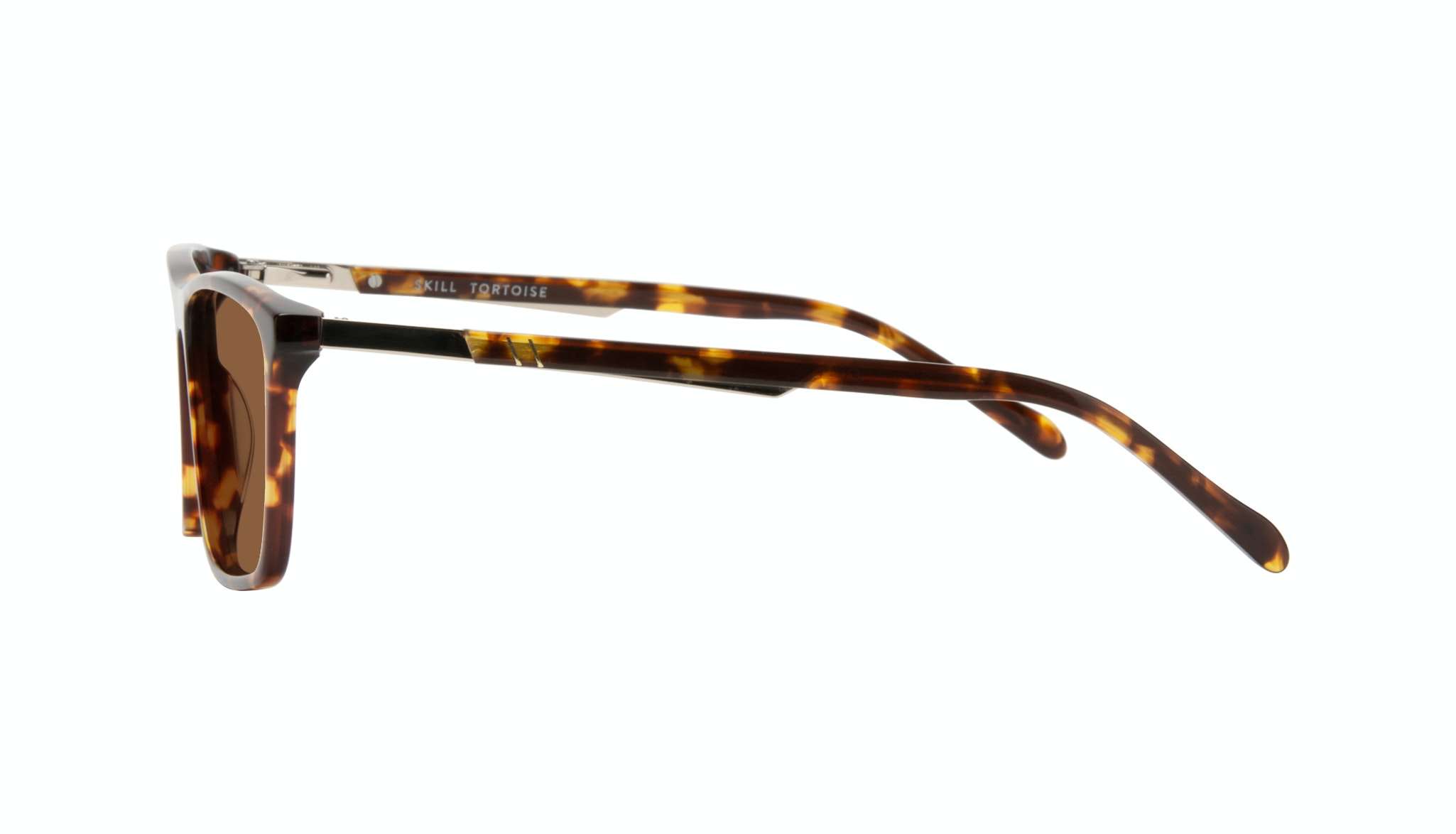Affordable Fashion Glasses Rectangle Sunglasses Men Skill Tortoise Side