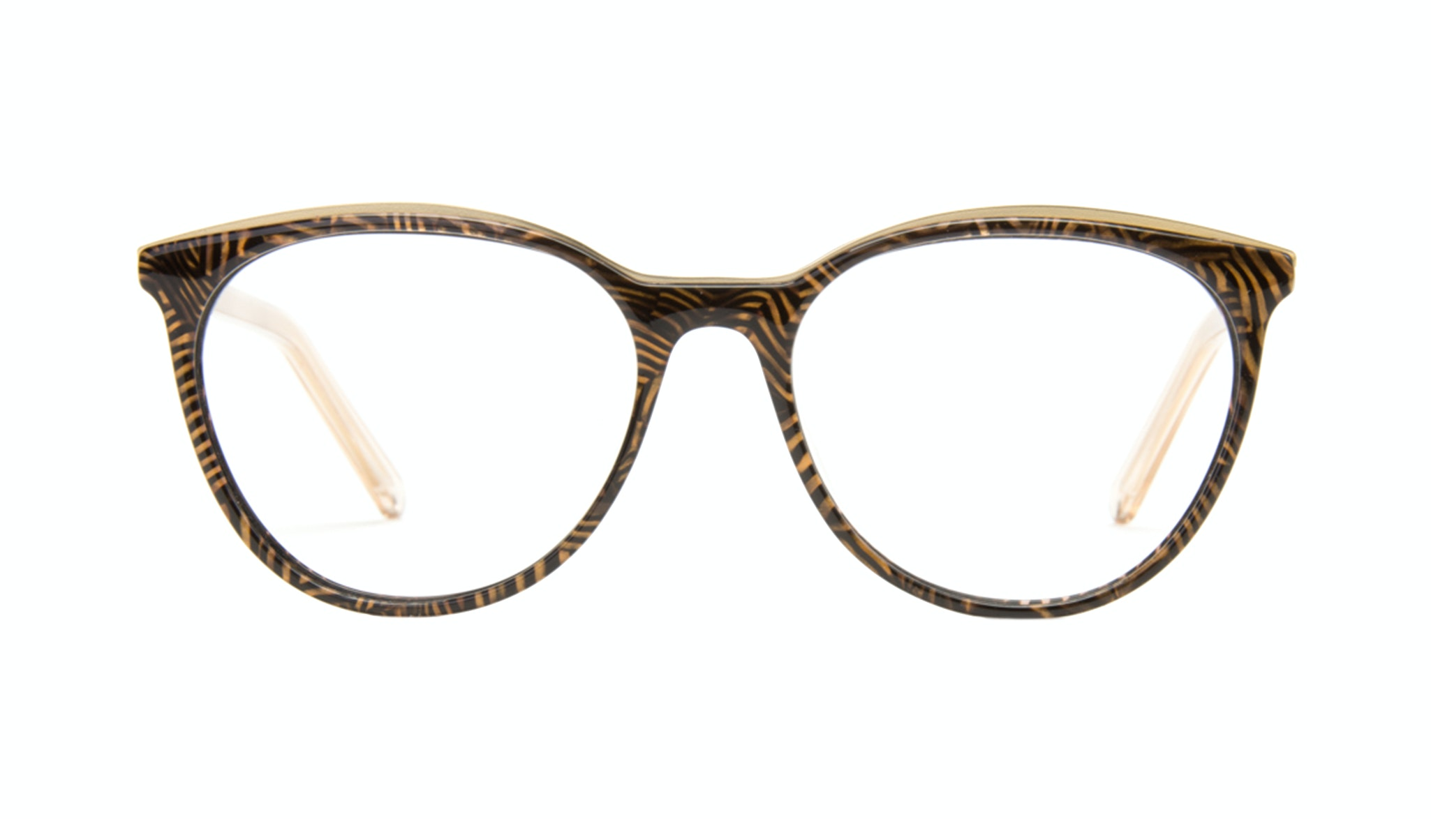 Affordable Fashion Glasses Round Eyeglasses Women Gypsy Copper Tort Front