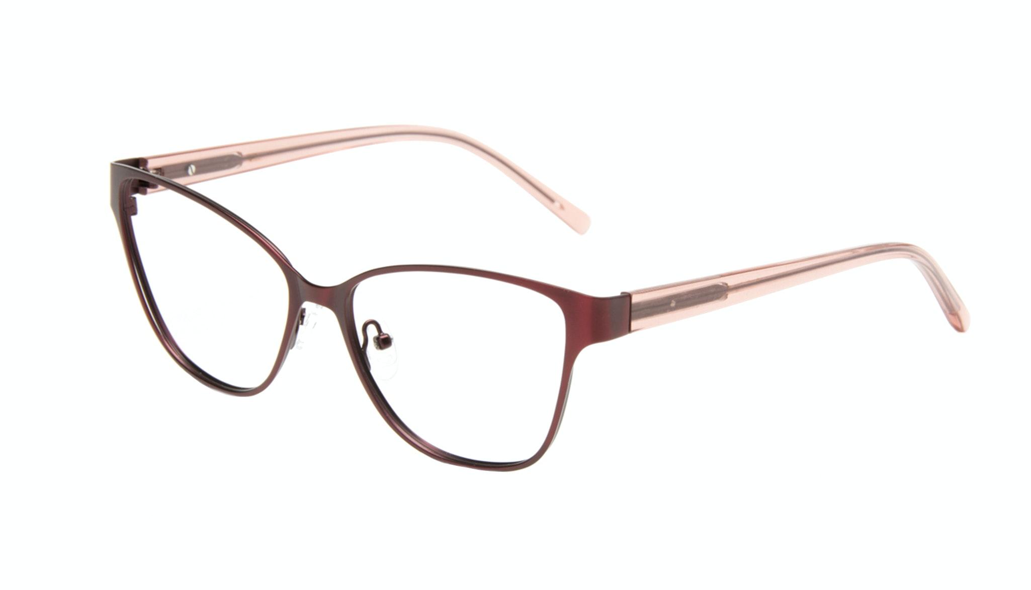 Affordable Fashion Glasses Rectangle Eyeglasses Women Radiant Cranberry Tilt