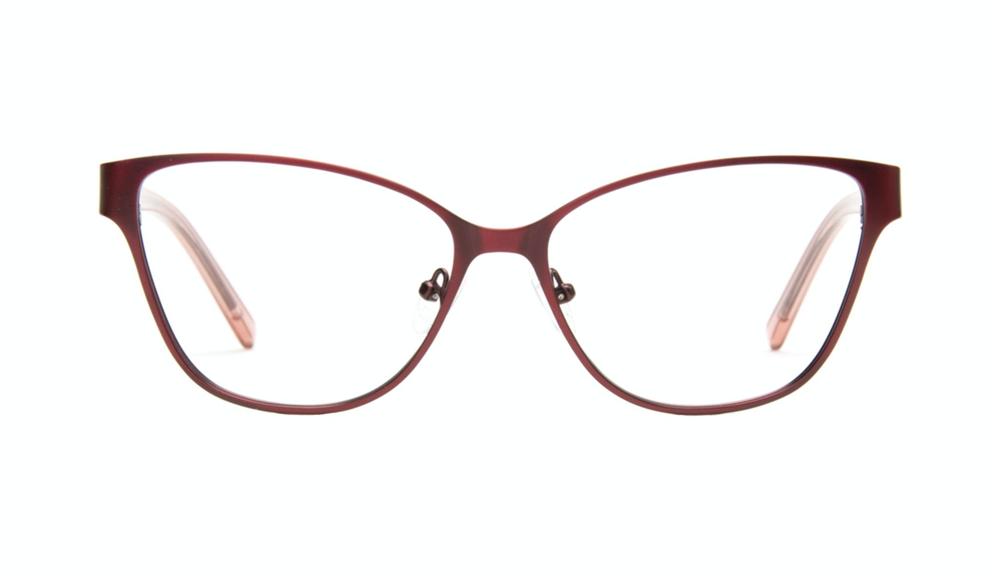 Affordable Fashion Glasses Rectangle Eyeglasses Women Radiant Cranberry Front