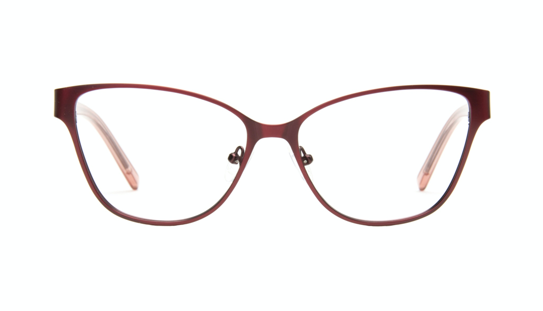 Affordable Fashion Glasses Rectangle Eyeglasses Women Radiant Cranberry
