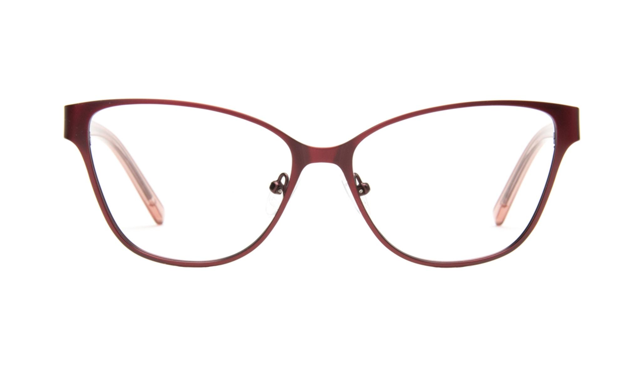 Affordable Fashion Glasses Cat Eye Rectangle Eyeglasses Women Radiant Cranberry