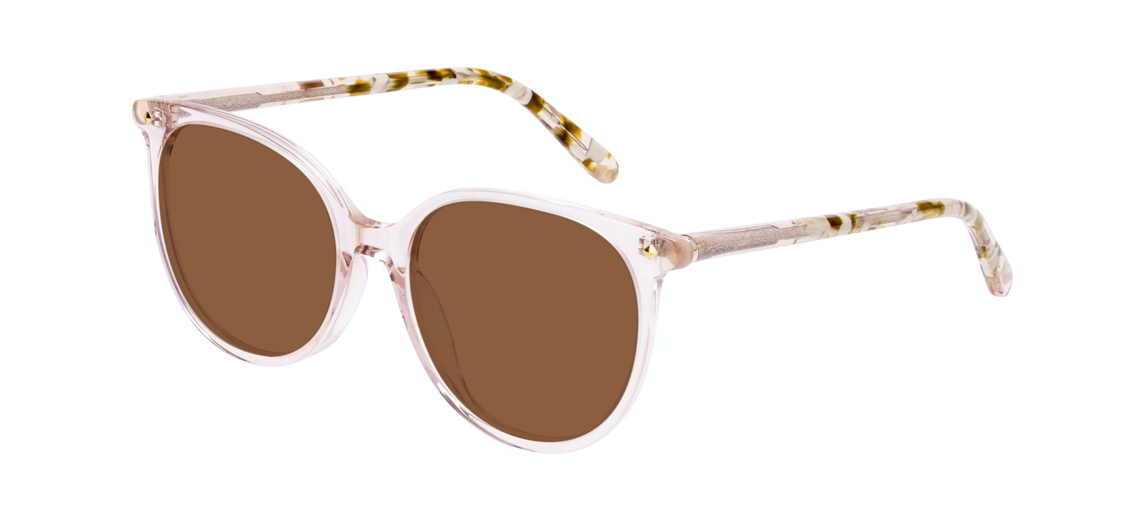 Affordable Fashion Glasses Round Sunglasses Women Area Petite Rose Tilt