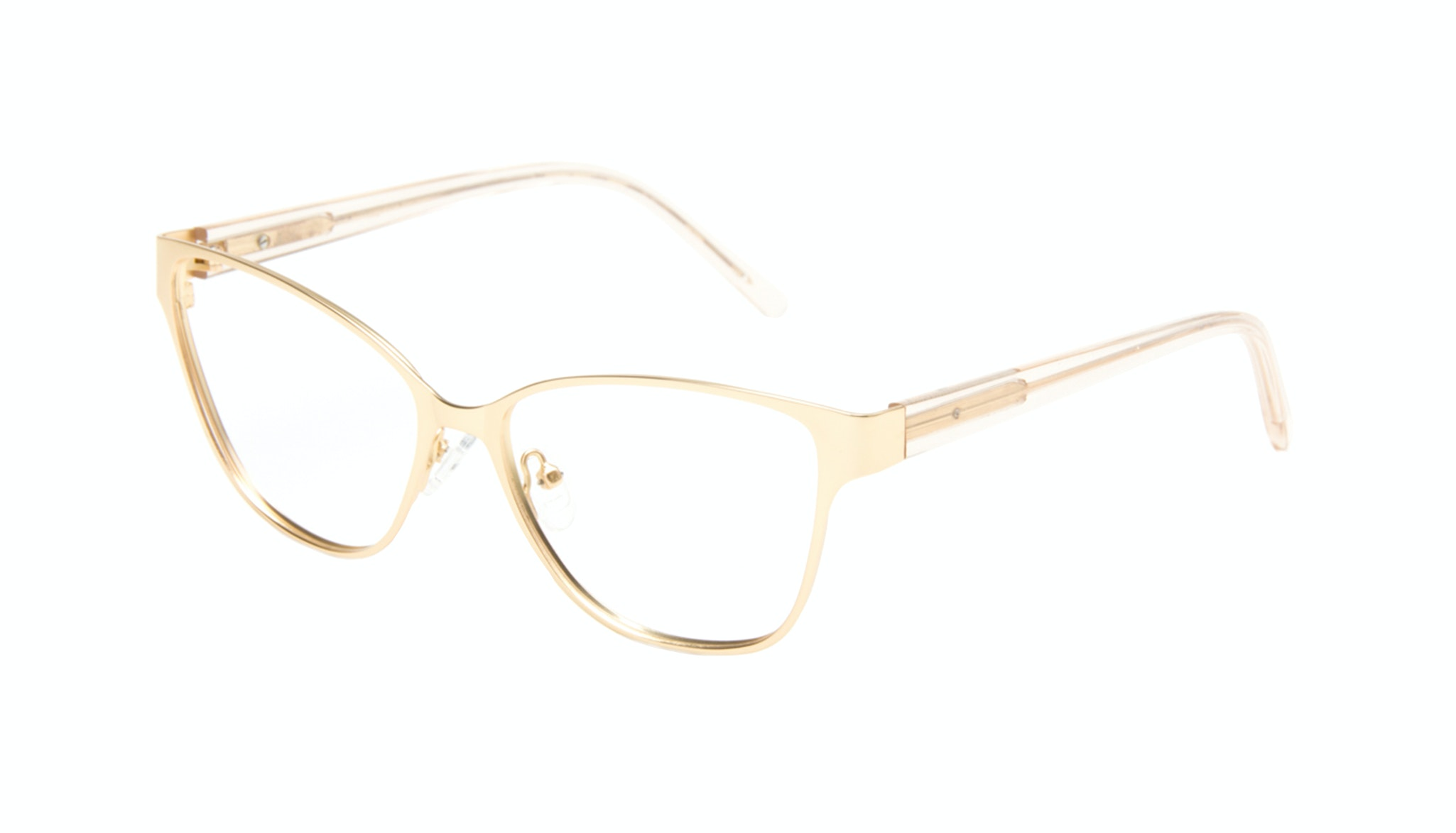 Affordable Fashion Glasses Cat Eye Rectangle Eyeglasses Women Radiant Gold Tilt