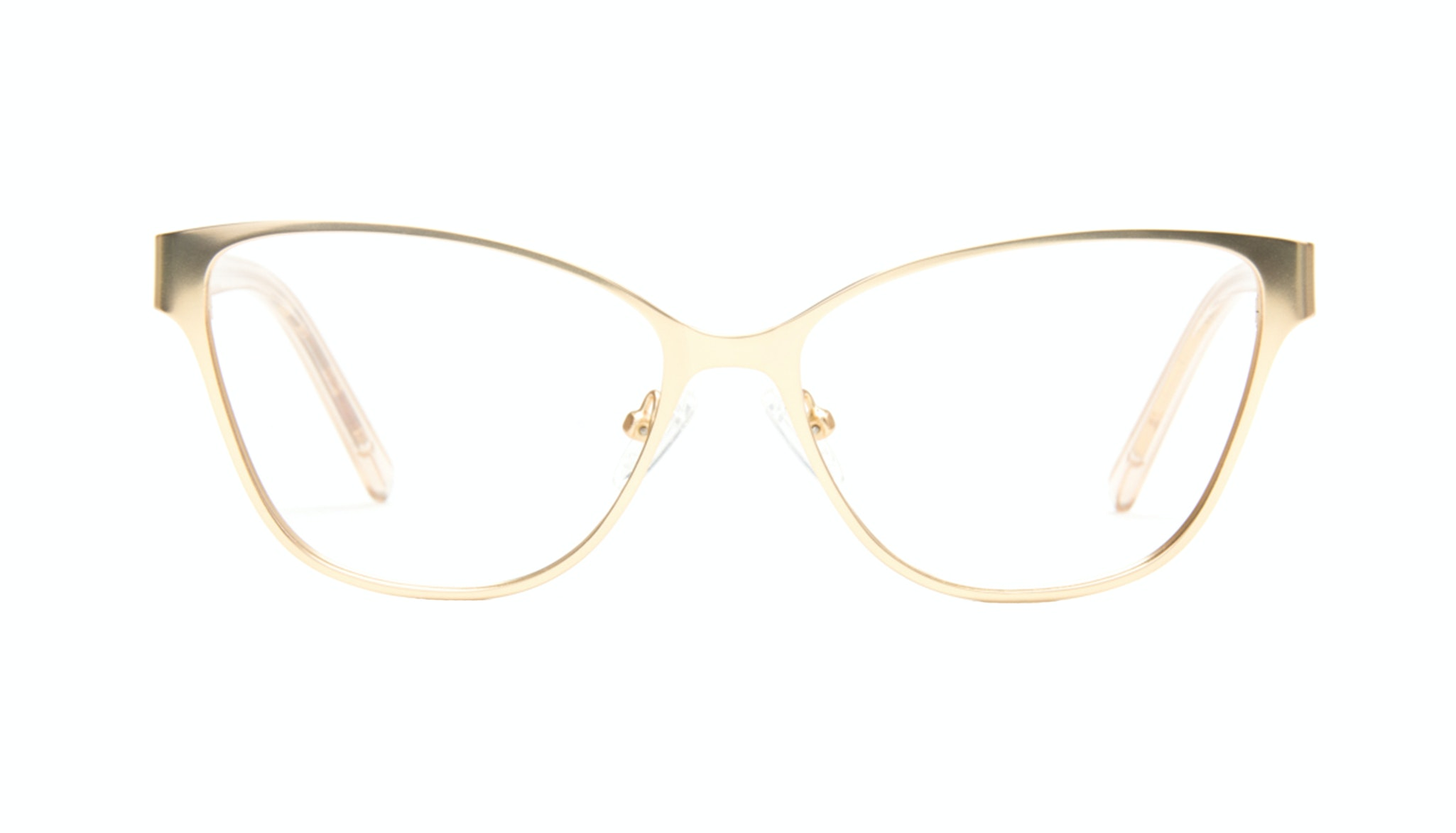 Affordable Fashion Glasses Rectangle Eyeglasses Women Radiant Gold Front