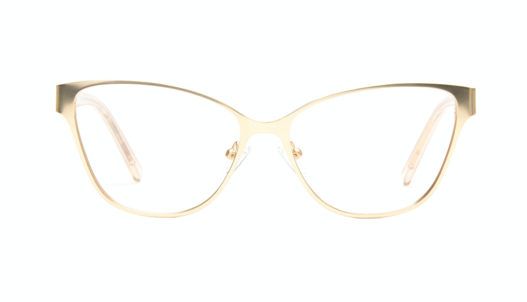 Affordable Fashion Glasses Cat Eye Rectangle Eyeglasses Women Radiant Gold Front