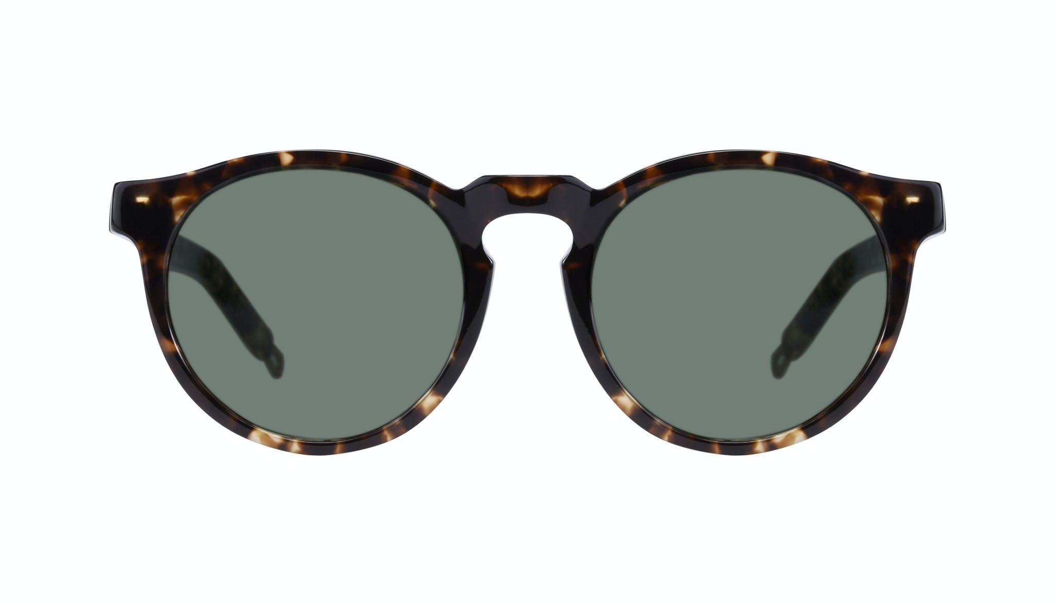 Affordable Fashion Glasses Round Sunglasses Men Ace Tortoise Front