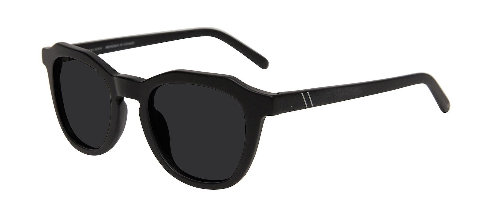 Affordable Fashion Glasses Square Sunglasses Men Action Matte Black Tilt
