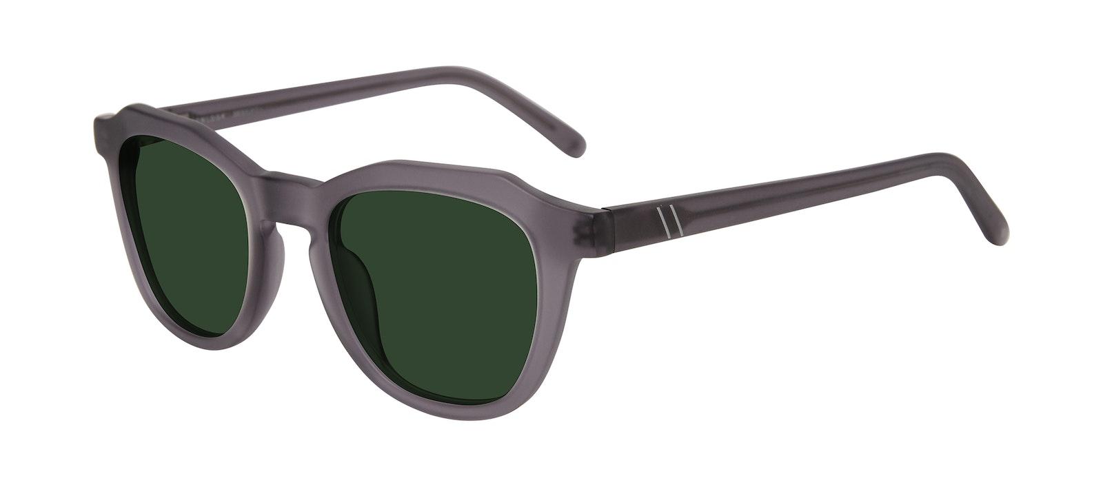 Affordable Fashion Glasses Square Sunglasses Men Action Matte Grey Tilt