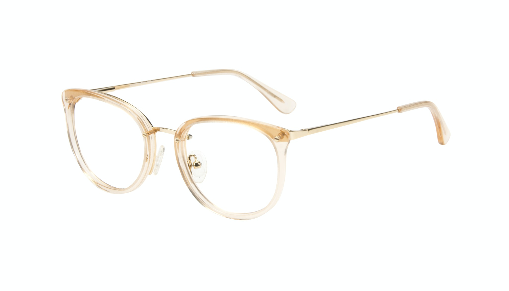 Affordable Fashion Glasses Square Round Eyeglasses Women Amaze Blond Metal Tilt