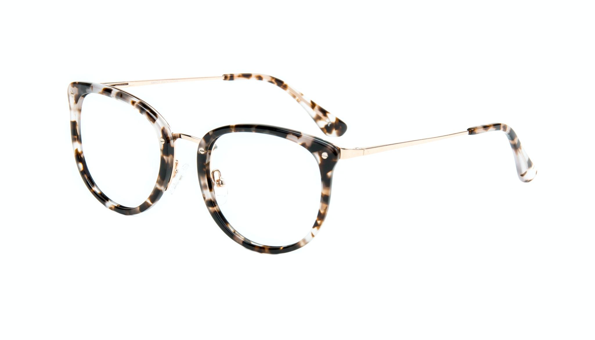 Affordable Fashion Glasses Square Round Eyeglasses Women Amaze Mocha Tortoise Tilt
