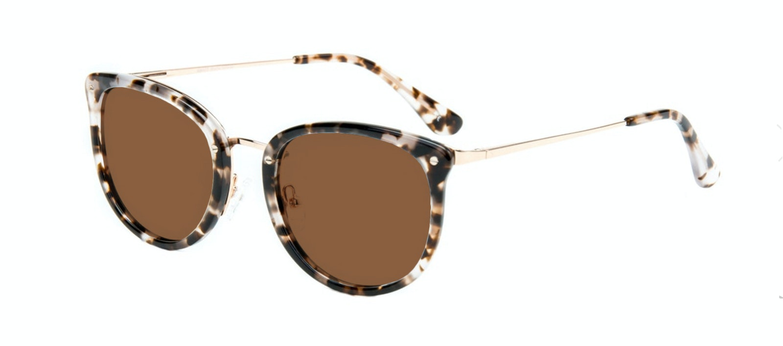 Affordable Fashion Glasses Square Round Sunglasses Women Amaze Mocha Tortoise Tilt
