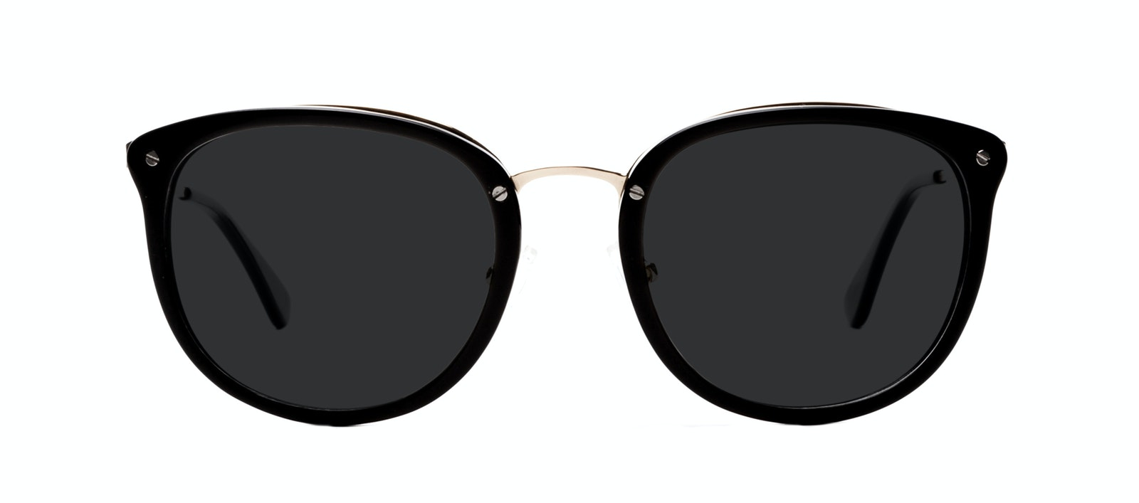 Affordable Fashion Glasses Square Round Sunglasses Women Amaze Onyx Front