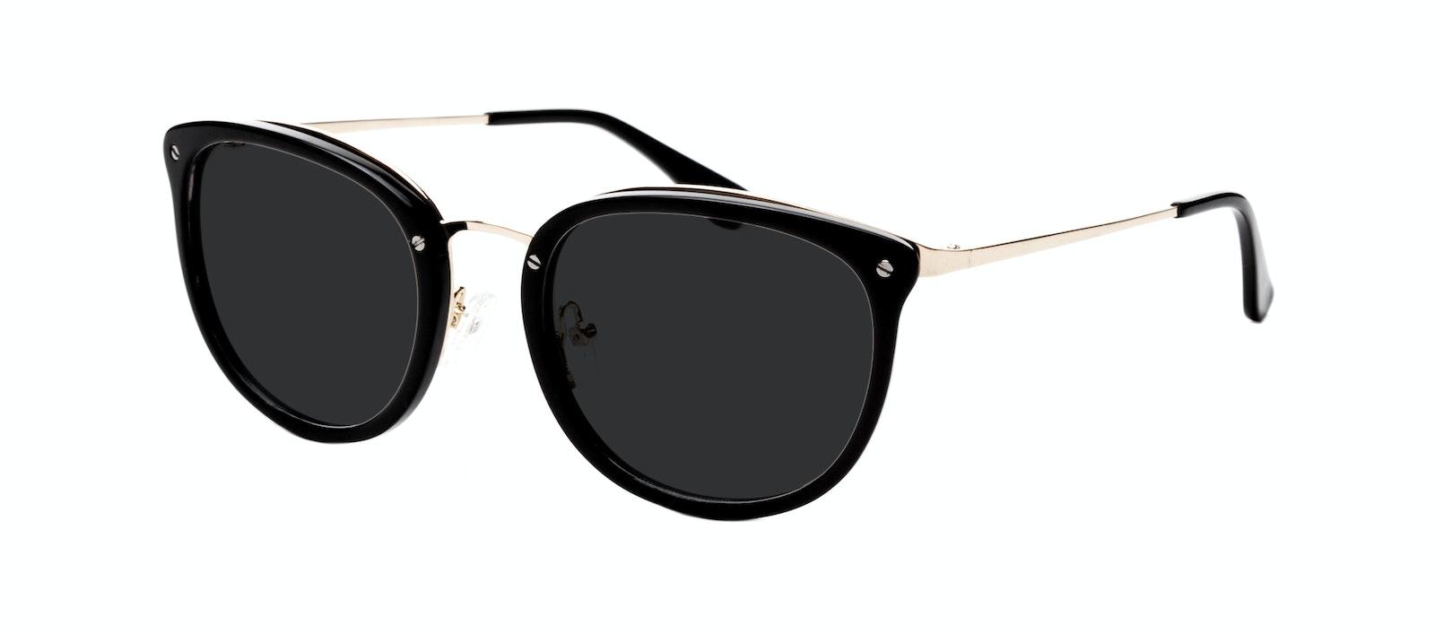 Affordable Fashion Glasses Square Round Sunglasses Women Amaze Onyx Tilt