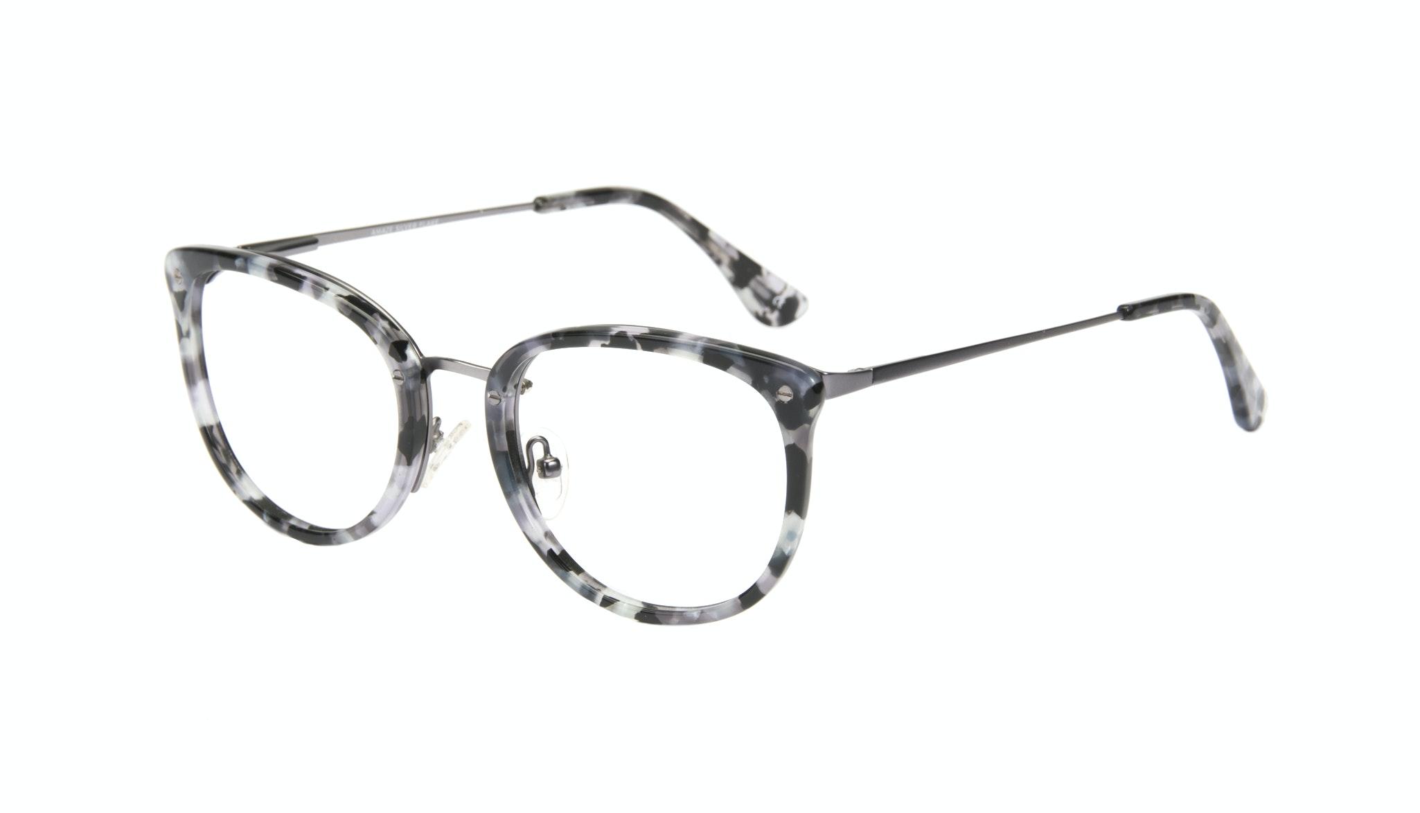 Lunettes tendance Carrée Ronde Lunettes de vue Femmes Amaze Silver Flake Incliné