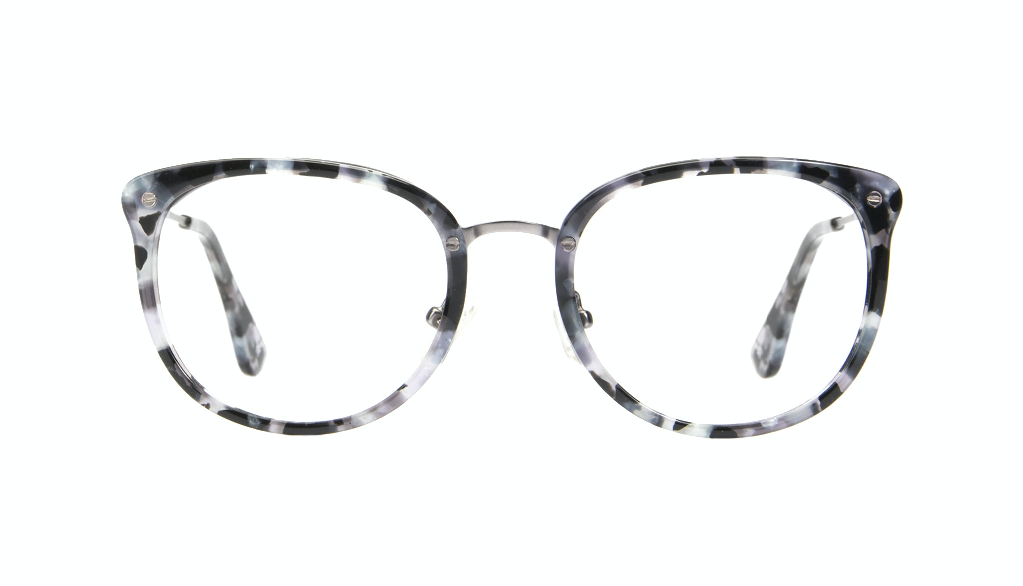 Affordable Fashion Glasses Square Round Eyeglasses Women Amaze Silver Flake