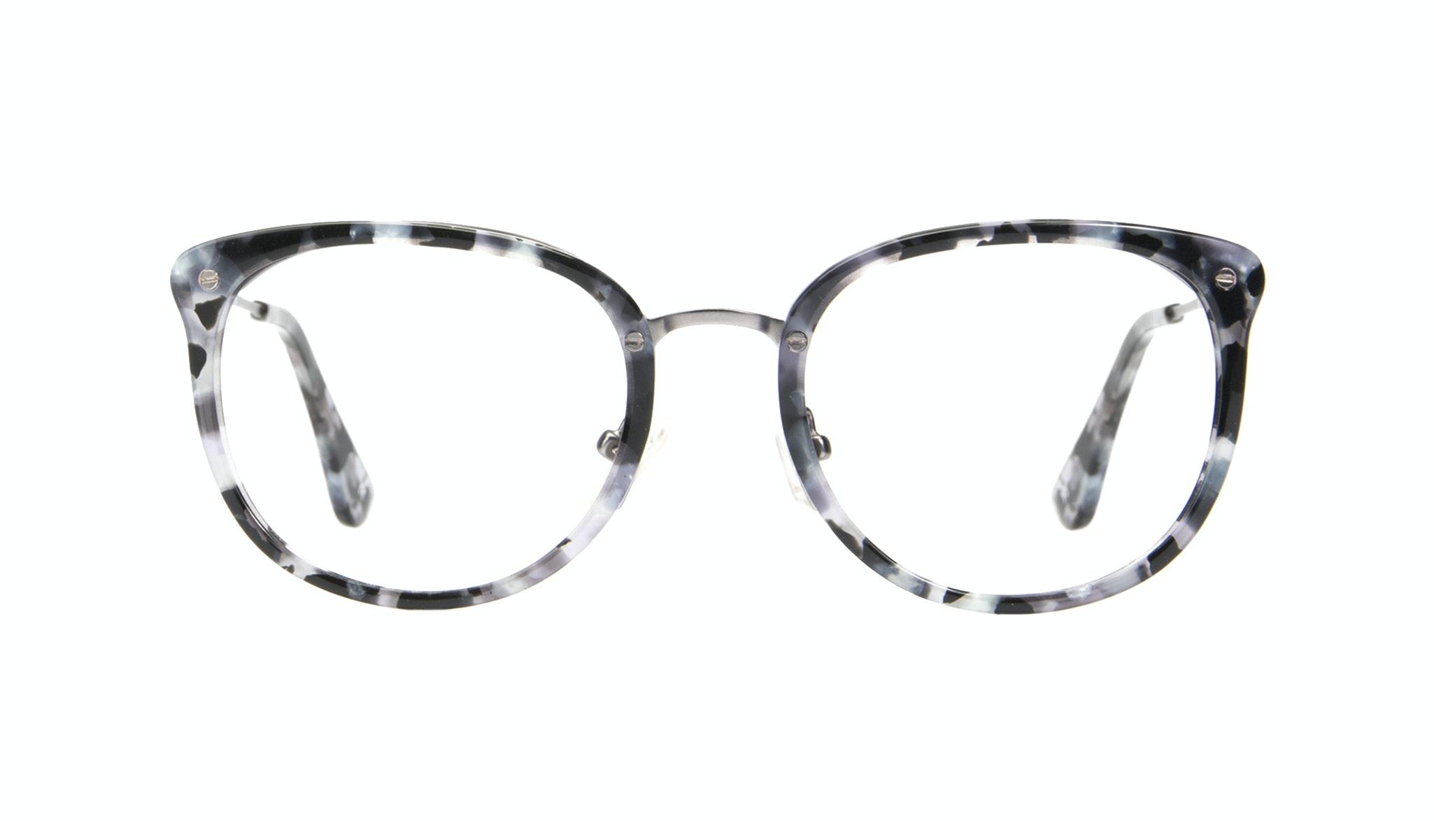 Affordable Fashion Glasses Square Round Eyeglasses Women Amaze Silver Flake Front