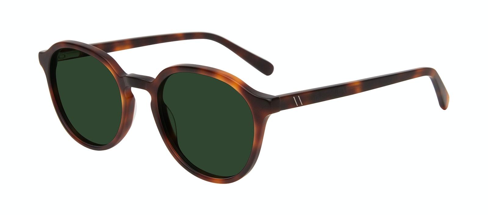 Affordable Fashion Glasses Round Sunglasses Men Ansel Matte Tortoise Tilt