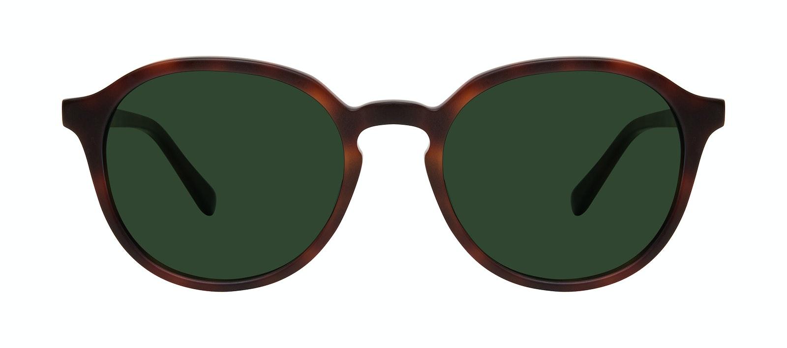 Affordable Fashion Glasses Round Sunglasses Men Ansel Matte Tortoise Front