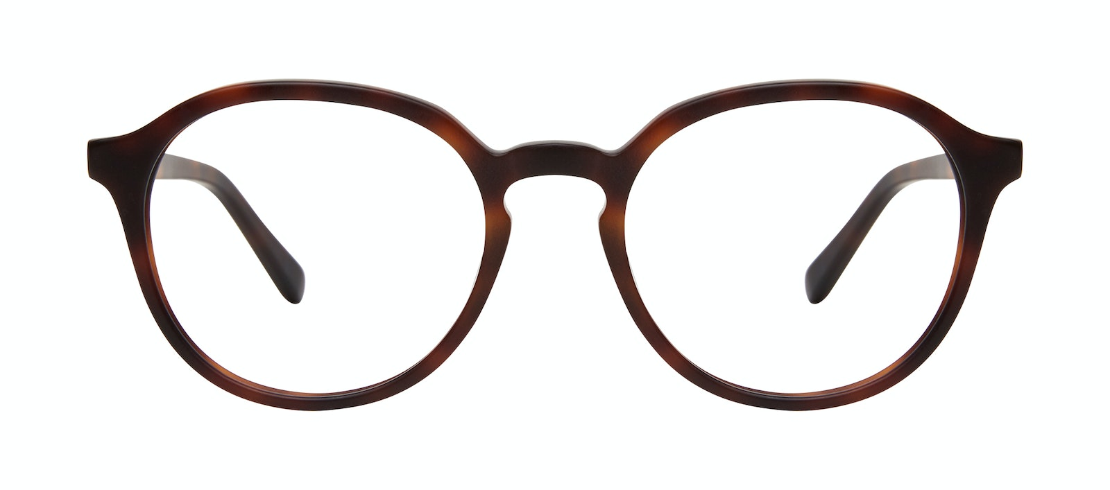 Affordable Fashion Glasses Round Eyeglasses Men Ansel Matte Tortoise Front