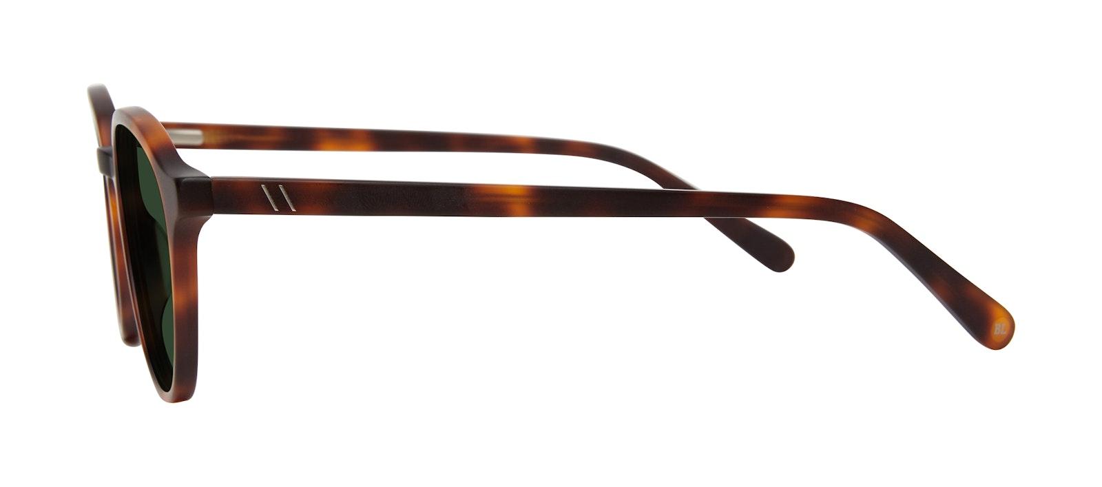 Affordable Fashion Glasses Round Sunglasses Men Ansel Matte Tortoise Side