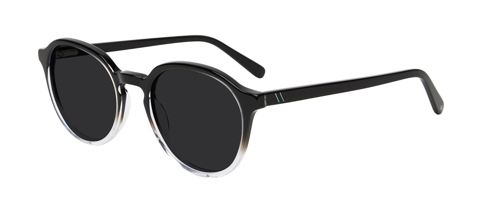 Affordable Fashion Glasses Round Sunglasses Men Ansel Onyx Clear Tilt