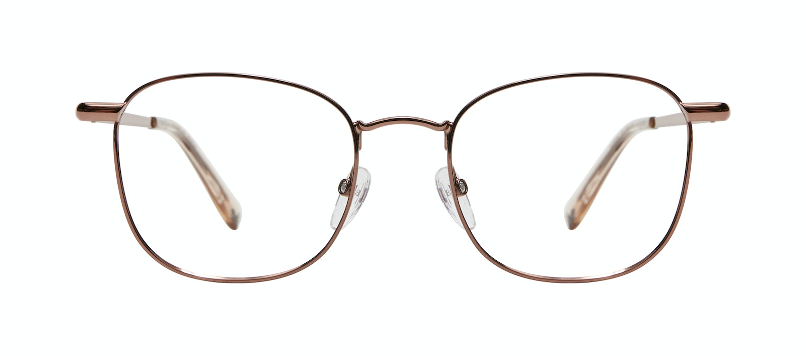 Affordable Fashion Glasses Square Eyeglasses Men Women Apex M Copper Front