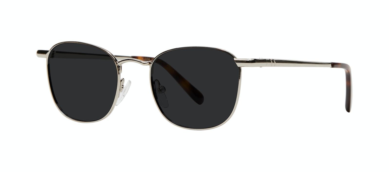 Affordable Fashion Glasses Square Sunglasses Men Women Apex M Silver Tilt