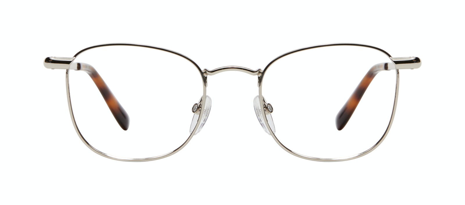 Affordable Fashion Glasses Square Eyeglasses Men Apex M Silver Front