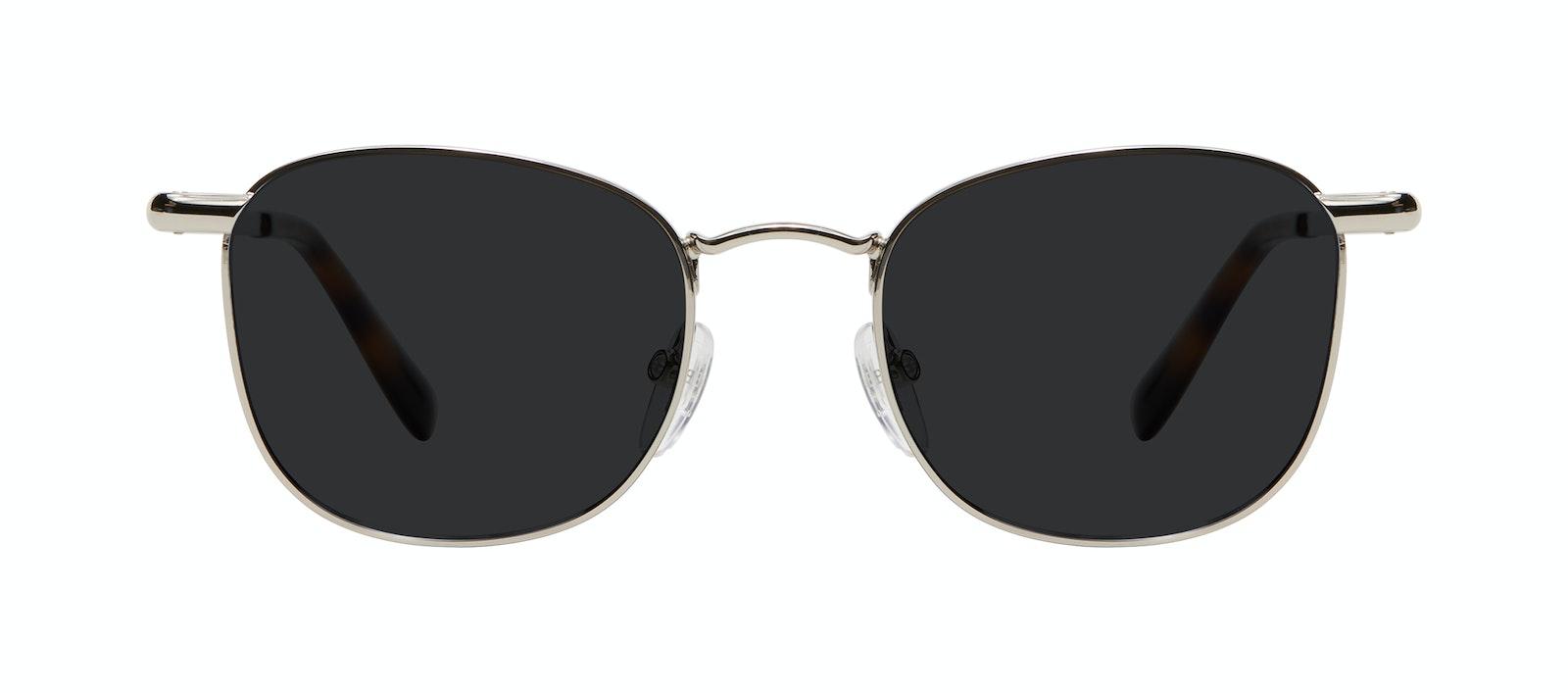 Affordable Fashion Glasses Square Sunglasses Men Women Apex M Silver Front