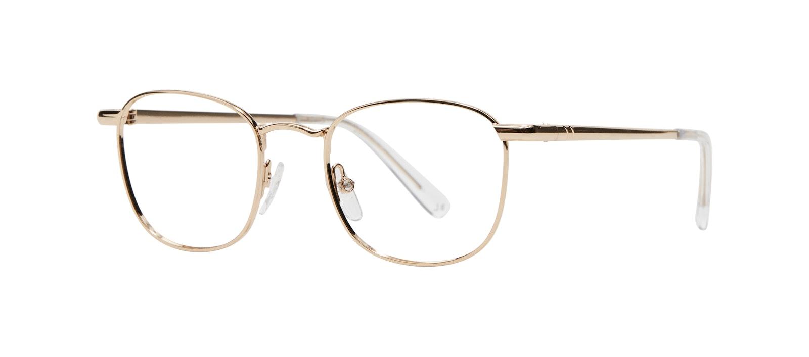 Affordable Fashion Glasses Square Eyeglasses Men Apex S Gold Tilt