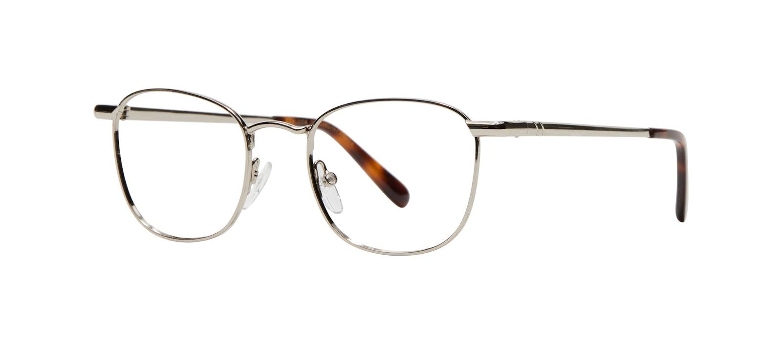Affordable Fashion Glasses Square Eyeglasses Men Women Apex S Silver Tilt