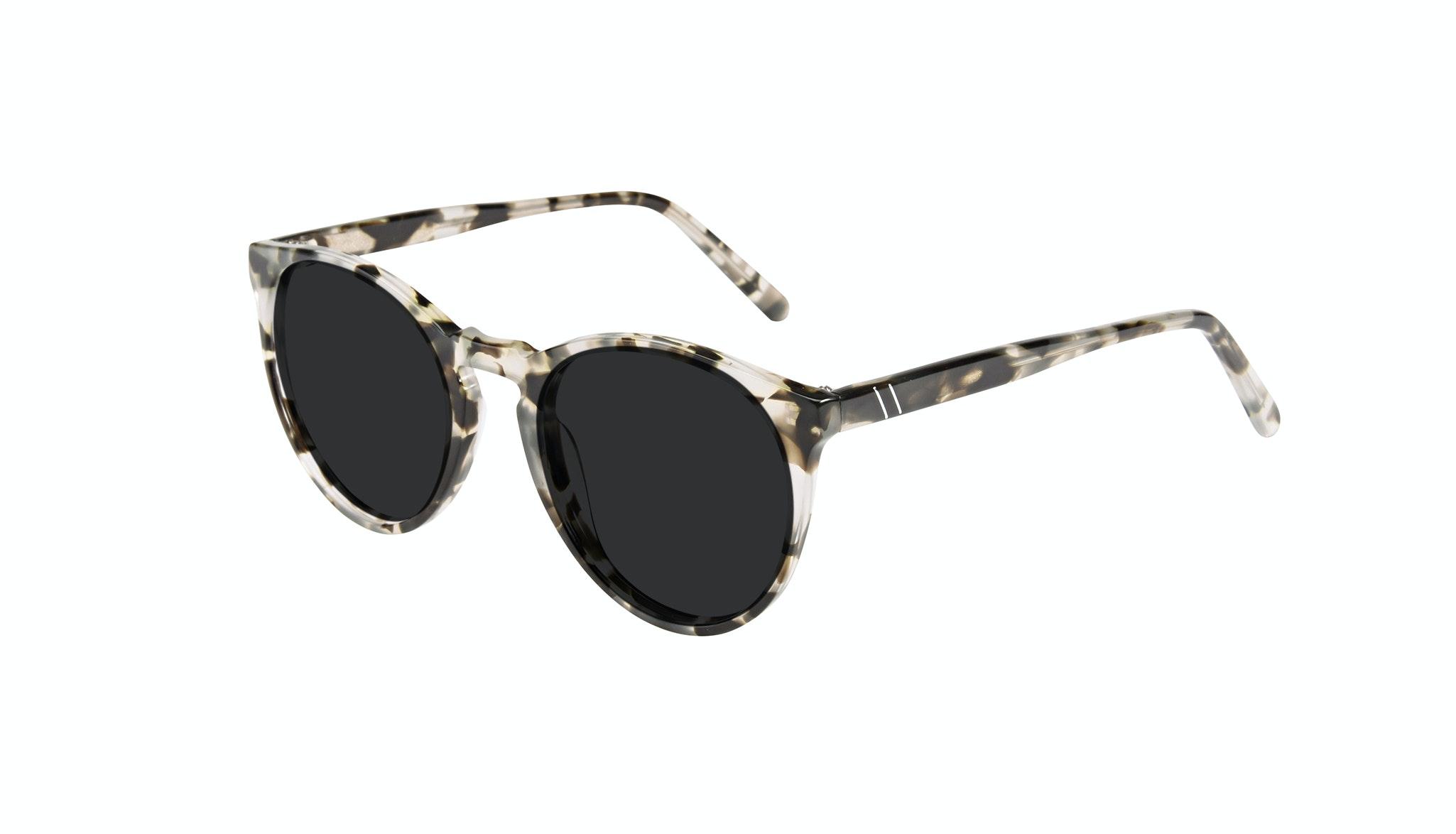 Affordable Fashion Glasses Round Sunglasses Men Arch Camo Tort Tilt