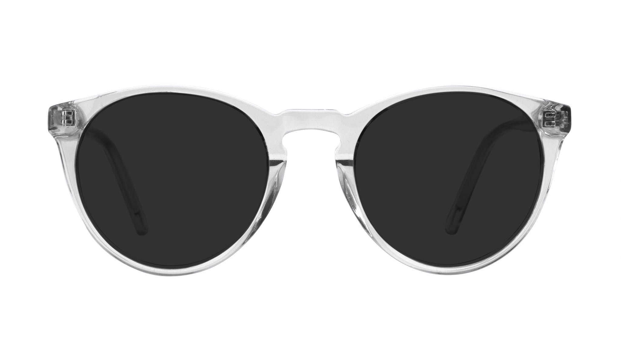 Affordable Fashion Glasses Round Sunglasses Men Arch Grey Front