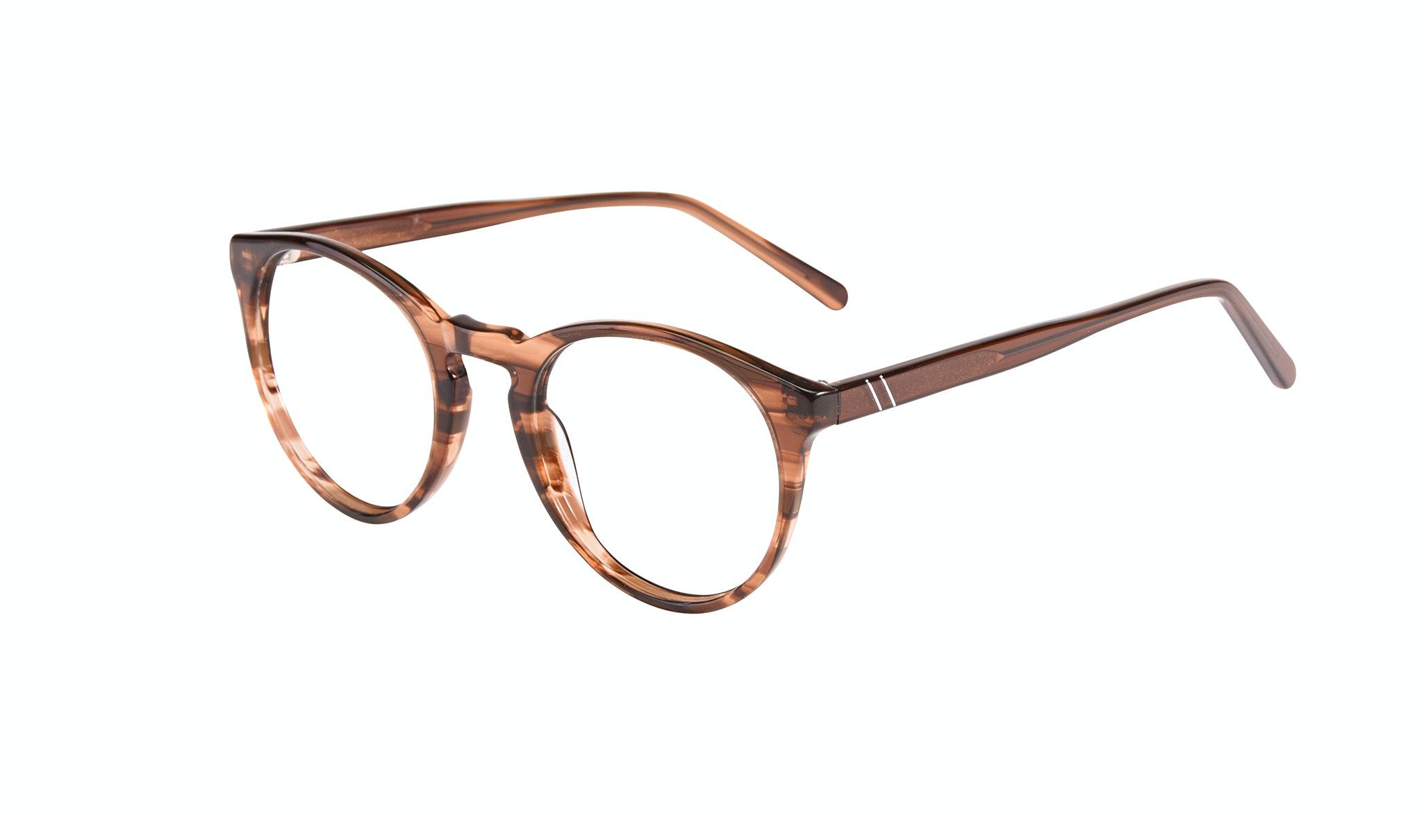 Affordable Fashion Glasses Round Eyeglasses Men Arch Wood Tilt