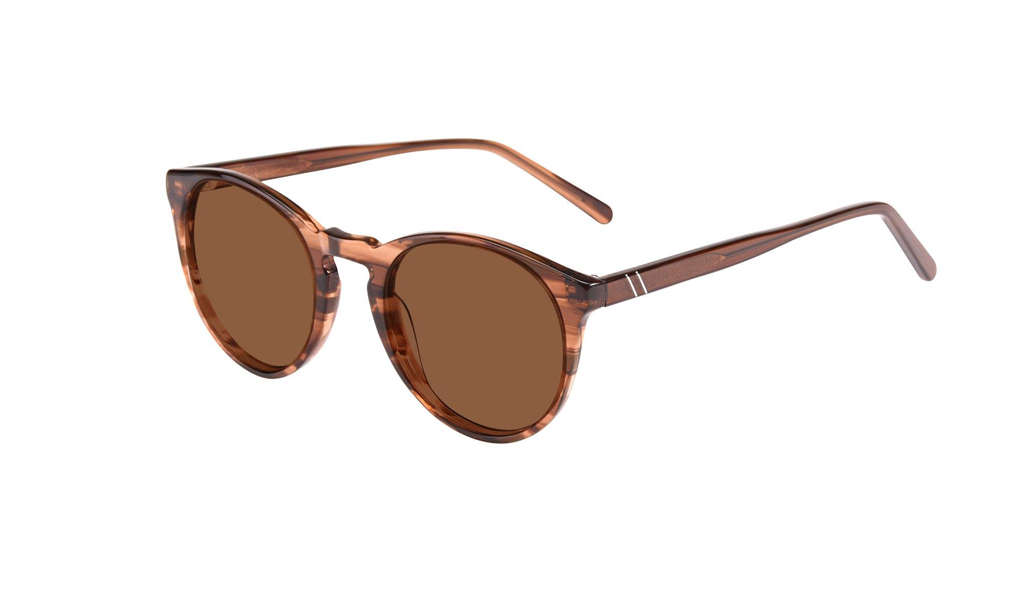 Affordable Fashion Glasses Round Sunglasses Men Arch Wood Tilt