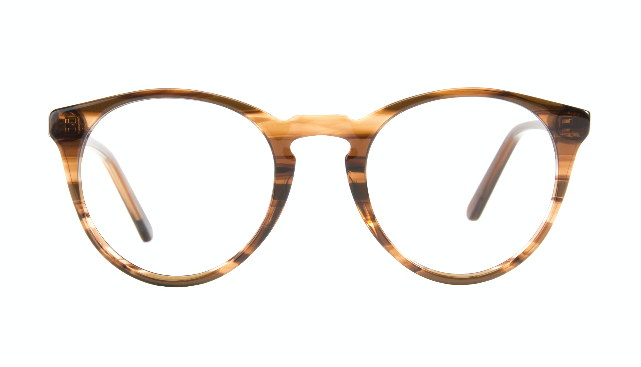 Affordable Fashion Glasses Round Eyeglasses Men Arch Wood Front