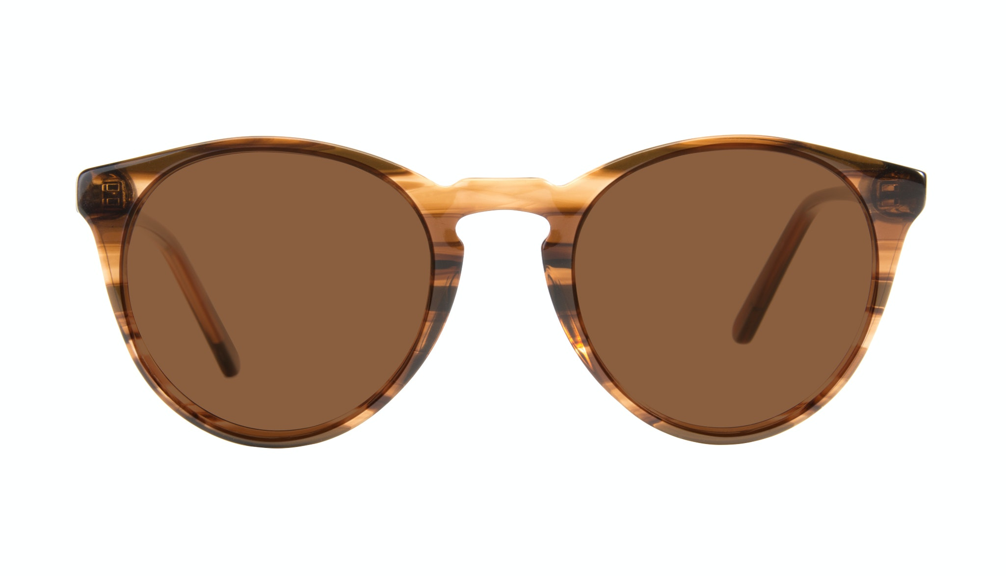 Affordable Fashion Glasses Round Sunglasses Men Arch Wood Front