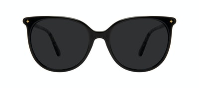 Affordable Fashion Glasses Round Sunglasses Women Area Petite Onyx Front