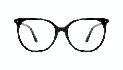 Affordable Fashion Glasses Round Eyeglasses Women Area Petite Onyx Front
