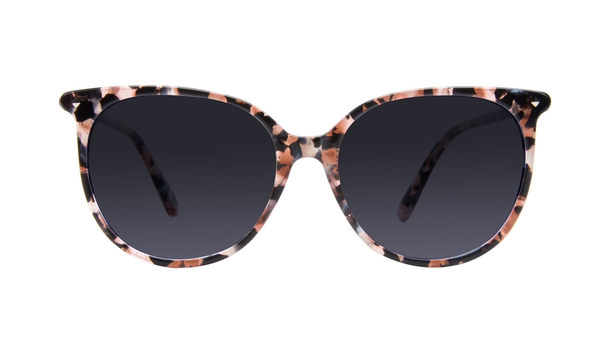 Affordable Fashion Glasses Cat Eye Square Sunglasses Women Area Pink Tortoise Front