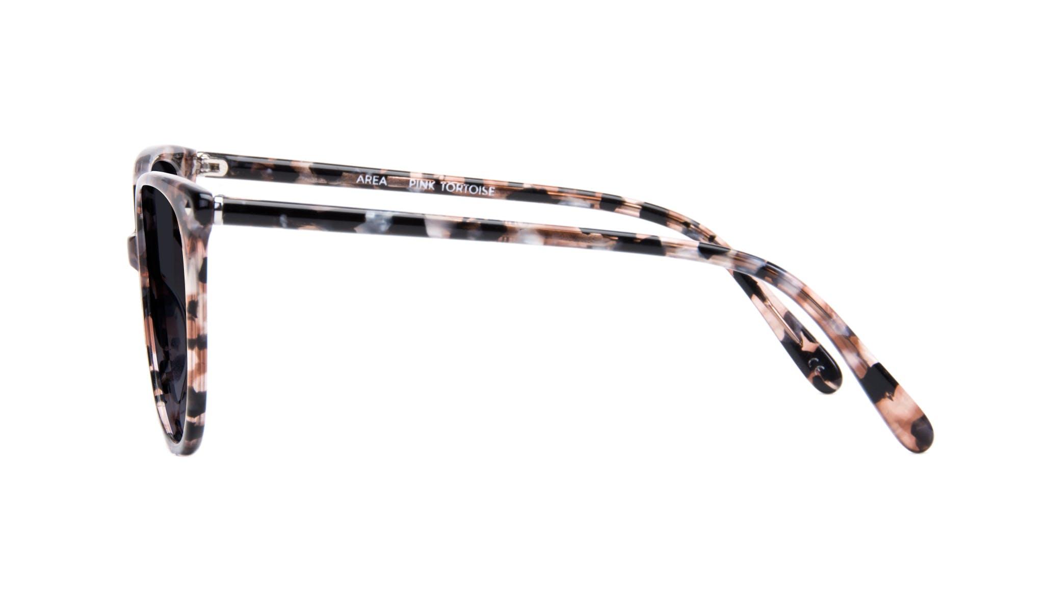 Affordable Fashion Glasses Cat Eye Square Sunglasses Women Area Pink Tortoise Side