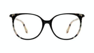 Affordable Fashion Glasses Round Eyeglasses Women Area Ebony Granite Front