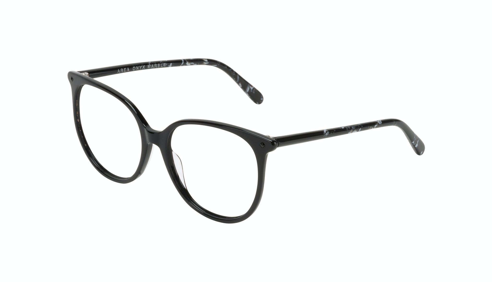 Affordable Fashion Glasses Round Eyeglasses Women Area Onyx Marble Tilt
