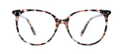 Affordable Fashion Glasses Round Eyeglasses Women Area Pink Tortoise Front