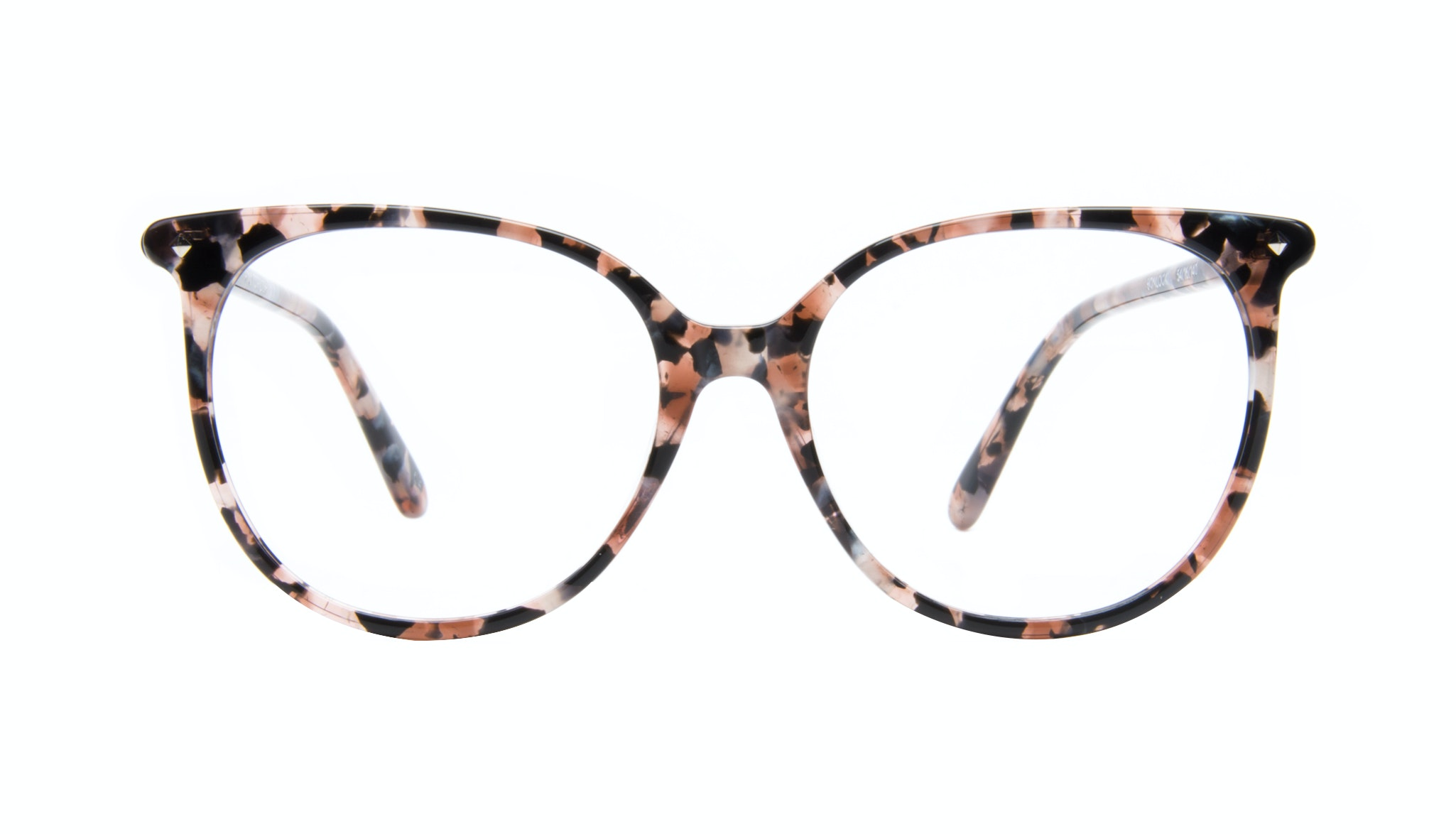 Affordable Fashion Glasses Cat Eye Square Eyeglasses Women Area Pink Tortoise Front